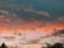 Solnedgång i Februari Royaltyfri Fotografi