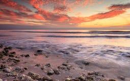 Solnedgång i Florida Fotografering för Bildbyråer