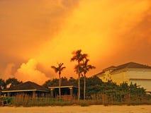 Solnedgång i Florida Arkivbilder