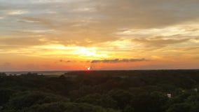 Solnedgång i Florida Arkivfoton