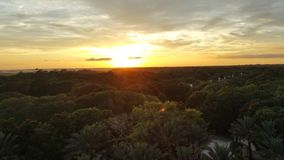 Solnedgång i Florida Arkivbild