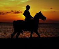 Solnedgång i Gili Trawangan arkivbilder