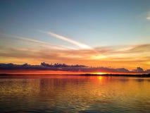 Solnedgång i Hals Arkivbilder
