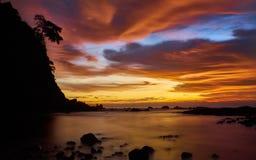 Solnedgång i hamnen Royaltyfri Foto