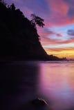 Solnedgång i hamnen Royaltyfri Fotografi