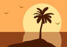 Solnedgång i hav Royaltyfria Bilder
