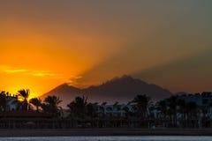 Solnedgång i Hurghada, Egypten Fotografering för Bildbyråer