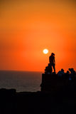 Solnedgång i Indien Arkivfoton