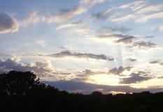Solnedgång i Iowa Arkivbilder