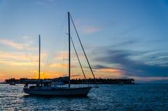 Solnedgång i Key West Royaltyfri Fotografi