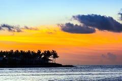 Solnedgång i Key West Arkivbilder