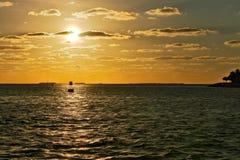 Solnedgång i Key West Arkivbild