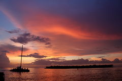 Solnedgång i Key West Arkivfoto