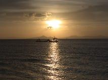 Solnedgång i Kuala Perlis royaltyfria foton