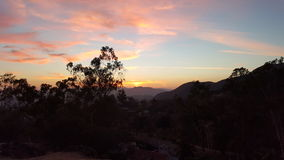 Solnedgång i LA Arkivfoton