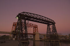 Solnedgång i La Boca, Buenos Aires Arkivbild