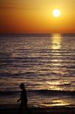 Solnedgång i La Manga (Murcia) 142 Royaltyfri Bild