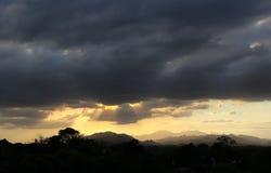 Solnedgång i lantliga Honduras Arkivfoton
