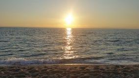 Solnedgång i Lefkada Arkivfoton