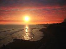 Solnedgång i Lima Arkivfoto