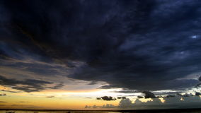 Solnedgång i Lombok Royaltyfria Bilder