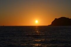 Solnedgång i Los Cabos i Mexico Fotografering för Bildbyråer