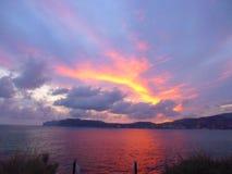 Solnedgång i Majorca Fotografering för Bildbyråer