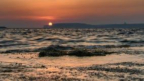 Solnedgång i Malta, Europa fotografering för bildbyråer