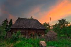 Solnedgång i Maramures Royaltyfri Bild