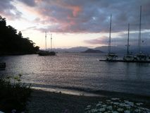Solnedgång i Marmaris Royaltyfria Foton