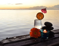Solnedgång i Mauritus Royaltyfria Bilder