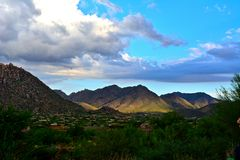 Solnedgång i maxima av Scottsdale Royaltyfria Bilder