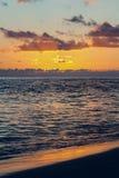 Solnedgång i Morro Jable Royaltyfri Fotografi