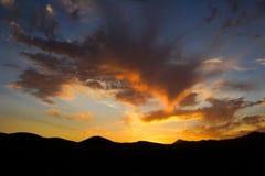 Solnedgång i nordliga Chile Royaltyfria Foton