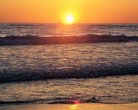 Solnedgång i Oregon Arkivfoton