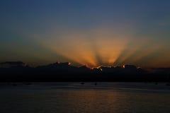 Solnedgång i Ortigia Fotografering för Bildbyråer