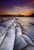 Solnedgång i Panjang royaltyfria bilder