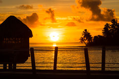 Solnedgång i paradis Royaltyfri Foto