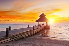 Solnedgång i paradiset Royaltyfria Bilder