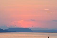 Solnedgång i pastellfärger Royaltyfri Bild