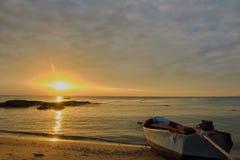 Solnedgång i Phu Quoc, Vietnam Arkivbilder