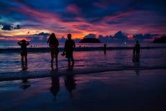 Solnedgång i phuket Royaltyfri Foto