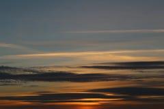Solnedgång i Portsmouth UK Arkivbilder