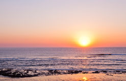 Solnedgång i Portugal Arkivfoton