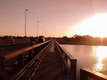 Solnedgång i Quequen royaltyfri fotografi