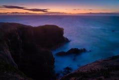 Solnedgång i Quiberon, Brittany Fotografering för Bildbyråer