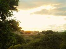 Solnedgång i Retamar-Alhaurin de la Torre Arkivfoton