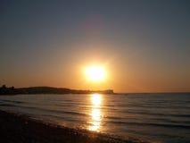 Solnedgång i Roda Fotografering för Bildbyråer