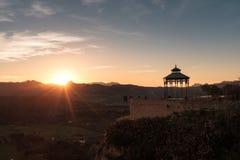 Solnedgång i Ronda Arkivbild