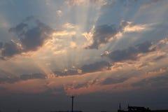 Solnedgång i söderna royaltyfria bilder